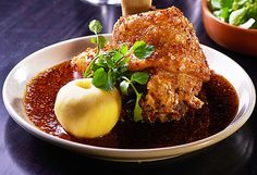 Crispy pork knuckle with soy mustard sauce recipe - 9Kitchen