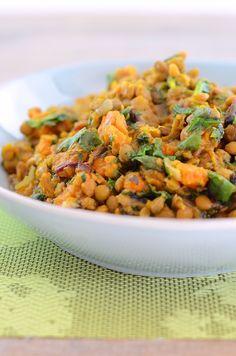 Vegan Slow Cooker Green Curry Lentils