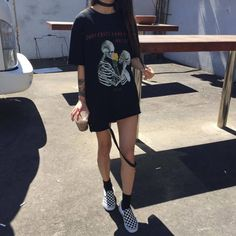 ideas how to wear tshirt dress girls for 2019 Grunge Outfits, Mode Outfits, Casual Outfits, Summer Outfits, Fashion Outfits, Grunge Clothes, Urban Outfits, Fashion Mode, Grunge Fashion