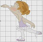 Мобильный LiveInternet Смешные маленькие балеринки ... 9 схем для вышивки крестом   MerlettKA - © MerlettKA® ™  
