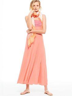 Foldover Multi-way Maxi Dress sunset glow fz-312910