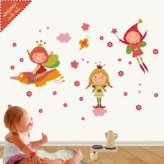 vinilos infantiles de tela hadas magicas En Stock, Wall Decals, Kids Rugs, Children, Handmade, Applique Patterns, Base, Embroidery, Home Decor