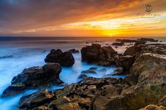 SEA0078 - Beautiful rocks and a lovely sunset