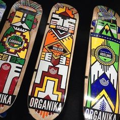 The Kachina series from Organika is out in stores now! #organika #growwithus #decks #skateboard #skate