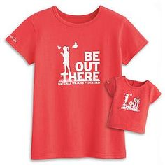 Lanie's red t-shirt set (for girls and dolls)