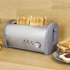 Cecotec Cecotec Steel Toaster 3037 Prepare a delicious breakfast for all the family every morning with the fabulous Cecotec Steel toaster A. Tostadas, Toaster, Demi Baguette, Pop Up, Bagless Vacuum Cleaner, Cord Storage, Springform Pan, Slice Of Bread, Coffee Machine