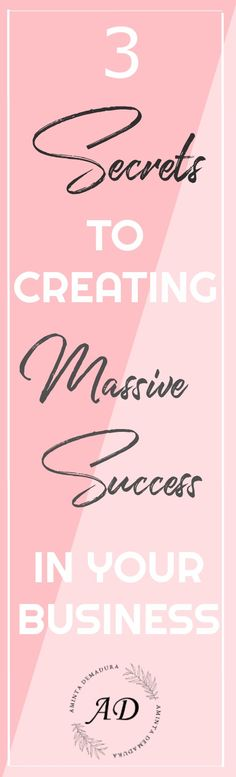 3 Secrets to Creating Massive Success In Your Business | Do you follow these three entrepreneur rules in your blog or biz? #bloggingtips #businessowner #entrepreneurship #onlinebusiness #womeninbusiness