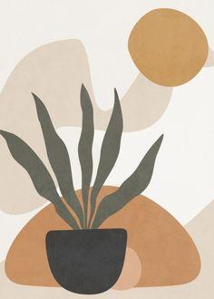 Minimalist Wallpaper, Minimalist Art, Pastell Wallpaper, Desenio Posters, Abstract Line Art, Plant Art, Aesthetic Art, Framed Art Prints, Printable Wall Art
