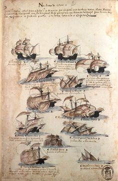 No Ano de 1500    Partiu Pedro Álvares Cabral para a Índia, em 9 de Março, por capitão de treze velas - naus, navios, caravelas -, das quais, com temporal rijo que lhe deu na travessa do Brasil para o Cabo da Boa Esperança, se perderam quatro