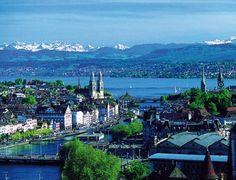 Zurich Switzerland is breathtaking.  1965 traveling with my parents