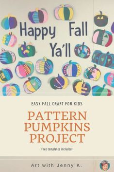 This fun, easy and totally free pattern pumpkin project is great for use in your classroom or at home. The template for the pumpkin project is included. Easy Fall Crafts, Fall Crafts For Kids, Art For Kids, Halloween Sewing, Halloween Fun, Pumpkin Quilt Pattern, Project Free, Happy Fall Y'all, Kids Patterns