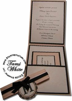 Cyber Wedding Expo – Invitations Part 1 | Stampin Up Demonstrator - Tami White - Stamp With Tami Stampin Up blog