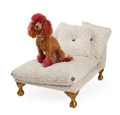 Cream Dog Bed Small Dog Bed Luxury Pet Bed от PoochieofBevHills