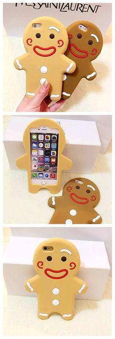 Cute Gingerbread Man Silicone iPhone Case
