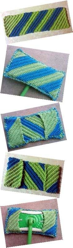 How to crochet a reusable Swiffer pad!