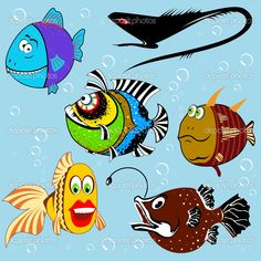 painting cartoon fish - Google Search
