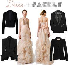 wedding dress + jack