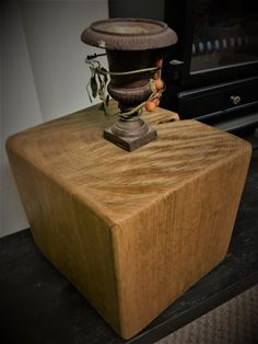 SOLID OAK CUBE (25 cm x 25 cm x 25 cm ) #LivingRoom #CubeTable #RusticTable #SolidOakCube #OakCubeTable #HomeFurniture #OakTable #CoffeeTable #OakCube #furniture Rustic Table, Cube Table, Soft Furnishings, Oak Table, Oak Lamp, Solid Oak, Fireplace Shelves, Mantle Piece, Floating Mantle