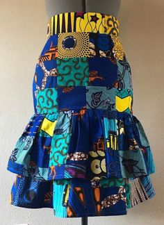 African Wax Print Patchwork Ruffled Pencil Skirt High Waist Cotton Lined Uou Choose Colors African Wax Print Patchwork Ruffled Pencil Skirt High Waist African Print Skirt, African Print Dresses, African Print Fashion, Africa Fashion, African Prints, African Fabric, African Pencil Skirt, Latest African Fashion Dresses, African Dresses For Women