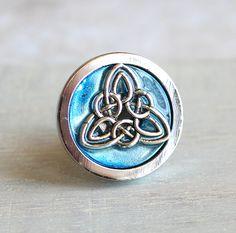 Ice Blue Celtic Knot Drawer Pull, Cabinet Knob, Cabinet Pull, Dresser Knob,  Decorative Knobs, Cabinet Hardware, Dresser Hardware