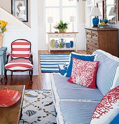 It's no secret that I am obsessed with nautical/beach themes... this would look great in our family lake house!