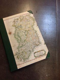 iPad case in half green leather with century Bloome Map of Ireland. Green Leather, 16th Century, Ipad Case, Ireland, Irish, Vintage World Maps, Cases, Books, Libros