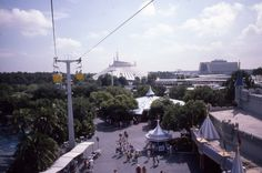 Old pictures with great views from the Walt Disney World Skyway through Fantasyland