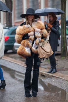 Street Style Fall 2013 - Milan Fashion Week Street Style - Harper's BAZAAR