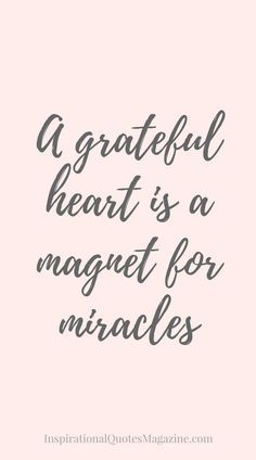 Inspirational Quote about Gratitude - Visit us at http://InspirationalQuotesMagazine.com for the best inspirational quotes!