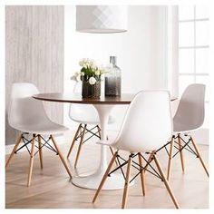 Catalina Modern Round Dining Table - Walnut, White : Target $374