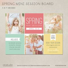 Spring Mini Session Template All purpose marketing by OtoStudio