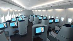 KLM airlines world business class interior design by hella jongerius