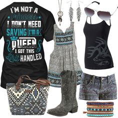 I'm Not A Princess Legendary Whitetails Black Cami Outfit - Real Country Ladies