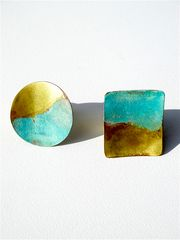 Statement Rings In Brass Gold Patina from IMPERIO jp on Taigan