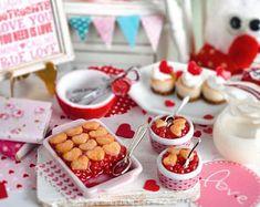 Miniature Valentine Cherry Cobbler Set