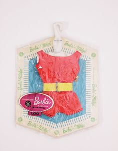 Vintage Matte Barbie & Midge Fashion Pak Scoop Neck Playsuit 1962 Sealed! #Accessories