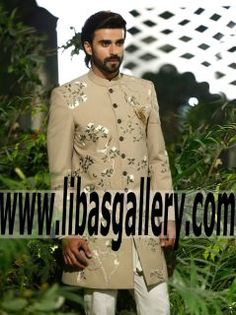 We provide the most exclusive designs of Elan wedding Groom dresses Fashion & Style Trends For Grooms 2016 and 2017. Designer Mens Sherwani for Wedding Groom Turbans Mens Kurta Party Wear Designer Sherwani Collection.The Best of Elan Bridal Couture Palai Indochine 2016 Groom Wear in #UK #USA #Canada #Australia #Saudi #Arabia #Bahrain #Kuwait #Norway #Sweden #NewZealand #Austria #Switzerland #Germany #Denmark #France #Ireland #Mauritius and #Netherlands | www.libasgallery.com Latest Elan…