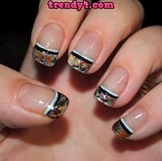 Easy DIY Candy Swirls Nail Art 2014.....almost has a camo look to it.