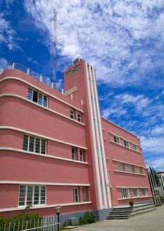 Art Deco Building Of Radio Station In Benguela, Angola