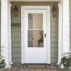 S6 Modern Entrance, Entrance Doors, Garage Doors, Industrial Front Doors, Antique French Doors, Retractable Screen Door, Shop Doors, Lowes Home, Black Doors