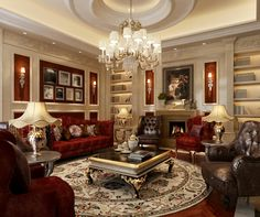 Luxury Living Rooms Luxury Living Room Model By