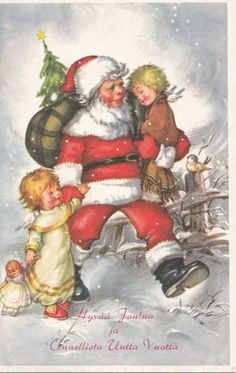 Santa Claus Postcard from Finland