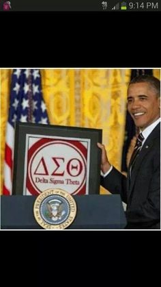 Delta Sigma Theta and the President.  A winning combination.