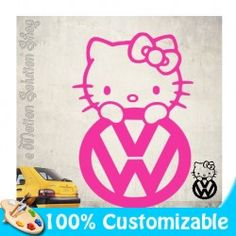 Sticker Autocollant Hello Kitty Volkswagen