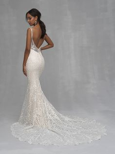 Wedding Dress by Allure Couture - Search our photo gallery for pictures of wedding dresses by Allure Couture. Find the perfect dress with recent Allure Couture photos. Western Wedding Dresses, Bridal Wedding Dresses, Dream Wedding Dresses, Designer Wedding Dresses, Sheath Wedding Dresses, Wedding Dresses Slim Fit, Pinina Tornai Wedding Dresses, Wedding Cakes, Bridesmaid Dresses