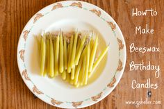How to make beeswax birthday candles maybe a good solstice project