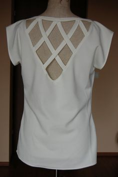 dekolt na plecach V Neck, Sewing, Blouse, Tops, Women, Fashion, Moda, Dressmaking, Couture