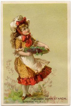 Vintage Grapes Girl Image! - The Graphics Fairy