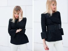 Belted blouse by  Charlotte