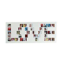 Multivues porte photos rectangulaire Love - 15 x 30 cm - Blanc